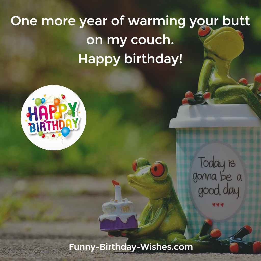 One More Year Of Warming Your Butt On My Couch Happy Birthday