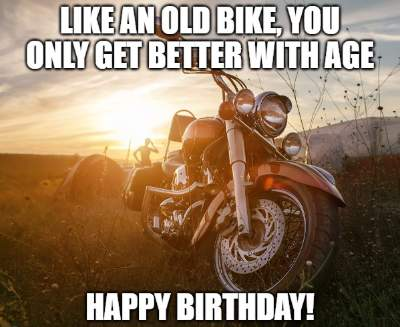 20+ Funny Birthday Wishes for Motorcycle Riders | Funny ...