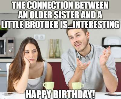 20+ Funny Birthday Wishes for Younger Brothers from Older